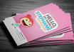 delivers PrintReady Business Card that Can be Personalized by You and have an Changeable Character on it small2