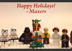 make this awesome personalized christmas holiday greeting video e card, featuring Lego Star Wars stop motion animation and your message small2