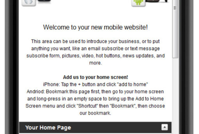 give you a MOBILE Website Templates Script