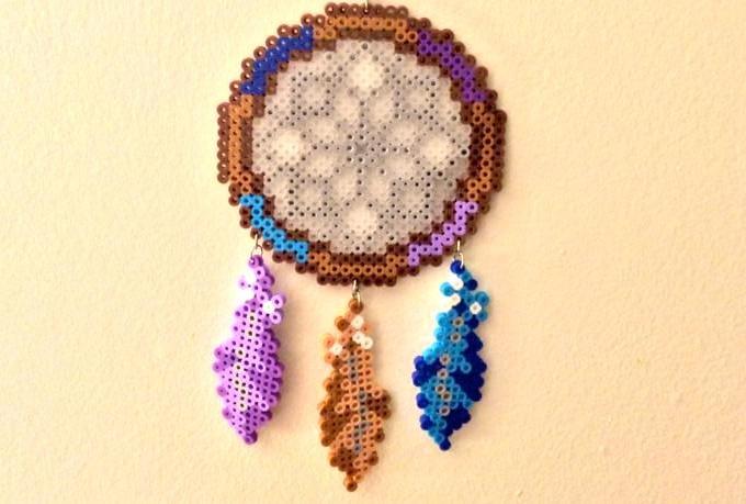 Create a custom perler bead dream catcher fiverr for Dreamcatcher beads meaning