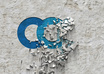 create crumbling on any type wall logo reveal with custom message to Promote ur business or website opener small2