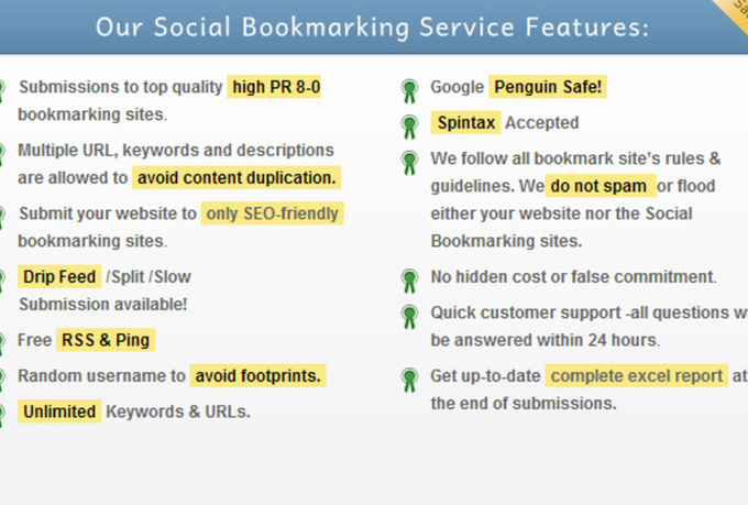 provide 600 BEST Social Bookmarking Service