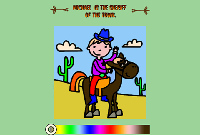 create a great Digital Coloring Book for Children, will feature the Child's Name on Every page!