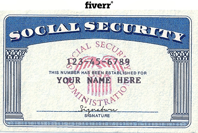 Make Novelty Social Security Card Driver License Or
