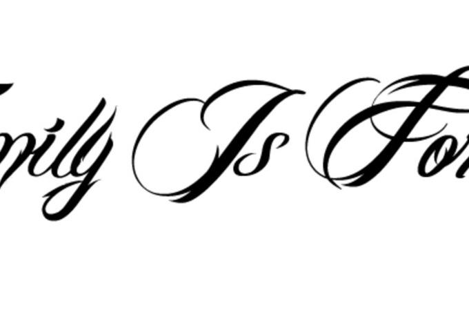 create a tattoo font outline fiverr. Black Bedroom Furniture Sets. Home Design Ideas