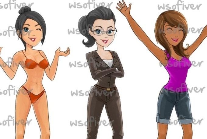create you a amazing, custom female MASCOT