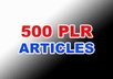 give you 500 PLR Articles