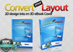 convert your 2D flat layout into 3D Book Covers, free 1 bonus for 3 order