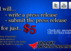 write a Press Release and submit it for backlinks and media publicity small1
