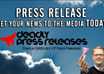 write a Press Release and post it online for backlinks and media attention