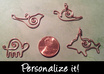 create a custom shaped wire pendant of the animal, plant, or other subject of your choice small1