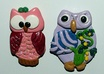handmake and send you two clay owl refrigerator magnets within three days