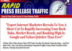 give You a Rapid Press Release Traffic Video Course + BONUS