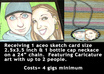 make you a Caricature aceo sketch card art and a bottle cap neckalce featuring the cartoon art, great for Christmas or Birthday Gifts