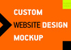 design a Custom Website Mockup small1
