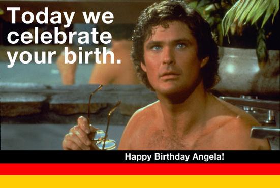 david hasselhoff birthday card