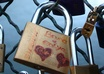 attach padlock on the Pont des Arts in Paris small1