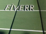 write your name with tennis balls in a tennis court