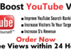 give 10000+ youtube views to your youtube video