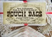 send you 12 4x6 pure and natural COTTON pouch bags for reusable packaging