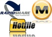 give you 1 rapidshare,1 hotfile and 1 megaupload account