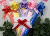 send you 100 3inch magic pull BOWS in 5 lucious colors