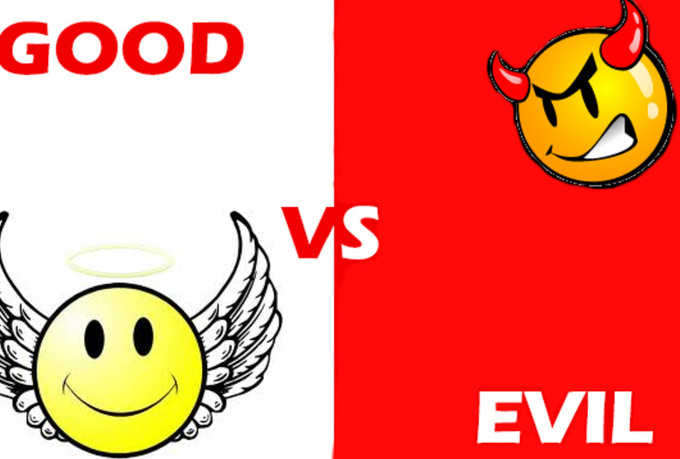 promote whatever you want in a battle between good and evil