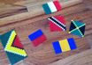 make two perler bead flags