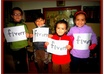 take pics of small childs holding ur message/birthday wish in cute funny stlye small1