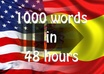 professionally translate any text from English to Spanish, up to 1000 words