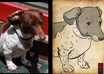 create a Japanese ink style drawing of your pet small1