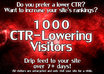 send 1000 Safe CTR Lowering Visitors to your AdSense Site