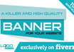 design a killer and high quality BANNER, an effective and custom made banner for your website