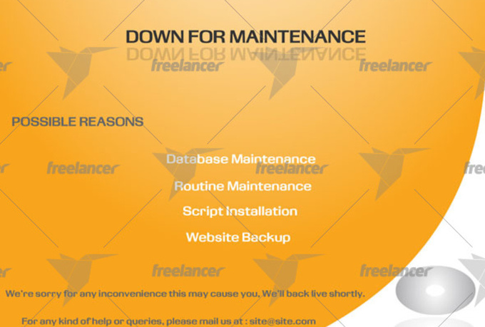 fully editable template for for maintenance website page fiverr
