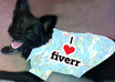 put any message on a shirt worn by my dog Cruiser and send you the photo small1