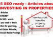 give you 25 articles about investing in rental PROPERTIES with 500 words or more