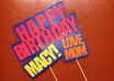 make you a custom weather resistant Happy Birthday yard sign complete with wooden sticks small1
