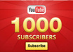 give You [SAFE] 1000 Youtube Subscribers To Your Any Youtube Channel
