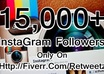 get you 15,000+ Instagram Followers and 10,000 photo likes  without admin access
