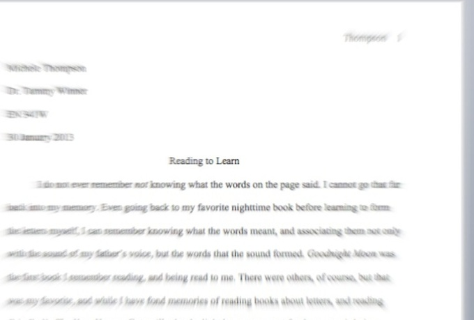 should college application essays be in mla format