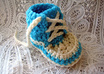 make these High Top Sneaker infant booties