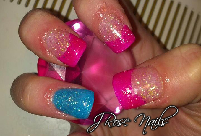 give you a step by step tutorial on how to create glitter tip gel