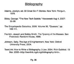 bibliography cards for research paper