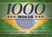 translate 1000 words from English to Portuguese small1