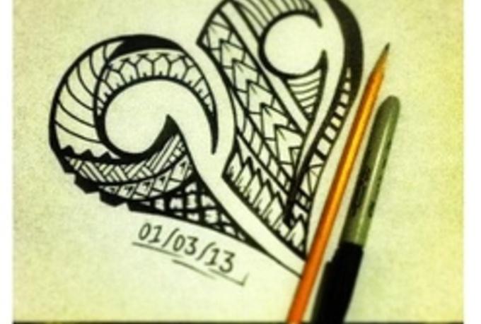 draw a polynesian tattoo design fiverr. Black Bedroom Furniture Sets. Home Design Ideas
