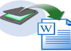 type any SCANNED word documents/handwritten notes up to 5 pages