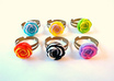 send you 1 resin flower ring