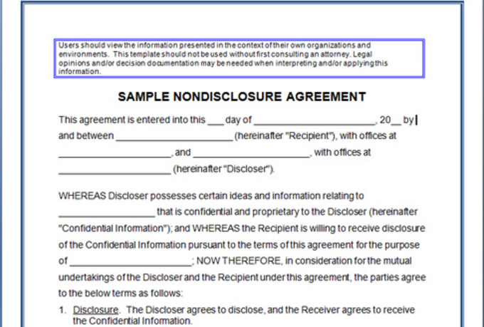 Nda Confidentiality Agreement Template Gallery Agreement Letter Format