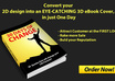 convert your 2D design into an EYECATCHING 3d ebook cover, in just one day