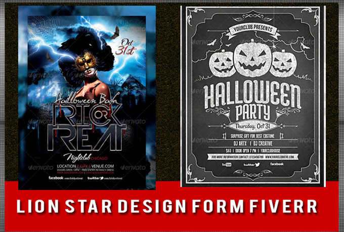 design Halloween party poster